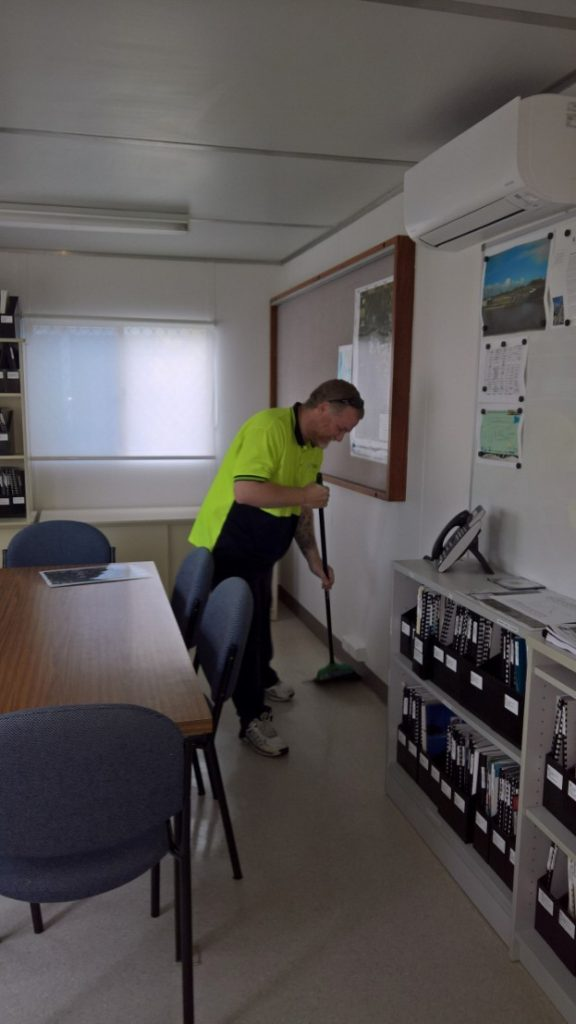 Mopping in an Office